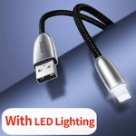 Кабель Baseus Torch Series USB Lightning для iPhone/iPad с подсветкой