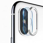 Защитное кольцо + закаленное стекло на камеру (Totu Design Camera protection set) для iPhone X