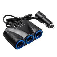 Автомобильный разветвитель прикуривателя + 3 порта USB 3.1A