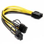 Переходник 8 pin CPU to 2x PCI-E 8 (6+2) pin