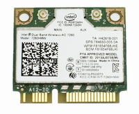 Адаптер WiFi Intel Dual Band Wireless-AC 7260 (Mini PCI-E half-size, B/G/N/AC, 867 Mbit/s, 2.4/5 Ghz) 7260HMW