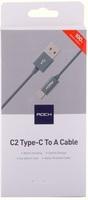 Кабель USB-C to USB-A Rock C2 Nylon Space Gray