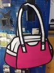 Мультяшная сумка 2D розовая 1