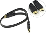 Кабель HDMI - HDMI 0.5m для подключения устройств плоский