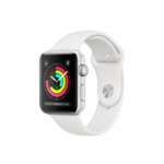 Часы Apple Watch Series 3 38mm Aluminum Case with Sport Band White [MTEY2RU/A]