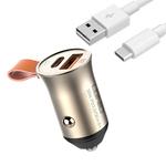 Автозарядка LDNIO C509Q 30W + Кабель USB Type-C (Quick Charge, PD)