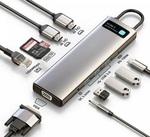Многопортовый хаб 11 в 1 Baseus Metal Gleam Series (USB Type-C,