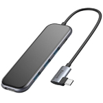 Адаптер-переходник USB type C to HDMI, USB 3.0, USB-C Baseus Mirror Series Multi-Funtional HUB CAHUB-BZ0G