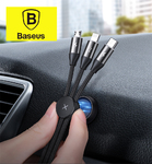 Кабель 3 в 1 Baseus Car Co-sharing Three-in-One Data cable