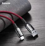 Кабель USB type C Baseus C-Shaped с индикатором зарядки
