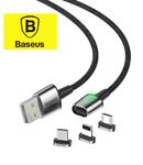 Кабель магнитный Baseus Zinс Magnetic Cable Kit (USB type C, MicroUSB, Lightning)