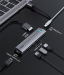 Многопортовый переходник Baseus Mechanical Eye Six-in-one smart hub USB type C to HDMI, LAN, USB 3.0, USB-C