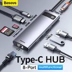 Многопортовый хаб 8 в 1 Baseus Metal Gleam Series
