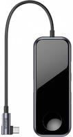 Многопортовый переходник USB type C to HDMI, USB 3.0, AUX с беспроводной зарядкой для Apple Watch Baseus Mirror Series multi-Functional Hub