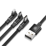 Кабель 3 в 1 Baseus MVP Mobile Game USB type C, Micro USB, Lightning для iPhone, iPad