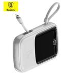 Внешний аккумулятор Baseus Qpow Digital Display 10000 mAh со встроенным кабелем для iPhone