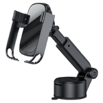 Автомобильный держатель Baseus Rock-solid Electric Holder Wireless Charger Kit Black