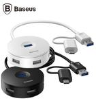 Адаптер-переходник USB type C, USB 3.0 to USB 3.0, USB 2.0 Baseus Round Box HUB
