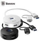 Адаптер-переходник USB type C, USB 3.0 to USB 3.0, USB 2.0 Baseus Round Box HUB