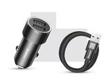 Автомобильная зарядка Baseus Small Screw 3.4A Dual-USB Type-C Car Charging Set