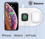 Беспроводная зарядка 3 в 1 Baseus Smart Wireless для iPhone, iWatch, AirPods
