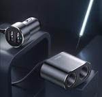 Автомобильный разветвитель прикуривателя с USB зарядкой Baseus (USB x2, два прикуривателя)