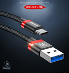 Кабель USB 3.0 to USB type C Baseus Golden Belt