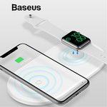 Беспроводная зарядка Baseus Wireless Charger Smart 2in1 для iPhone и Apple Watch