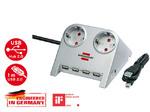 Удлинитель сетевой с USB разветвителем Brennenstuhl Desktop-Power + USB-Hub 2.0 (4 порта) 802U-2-5V