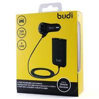 Автомобильное зарядное устройство USB Budi 36W 7.2 amp (4 usb) для водителя и пассажиров