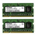 Оперативная память DDR2 1Gb 667 Mhz Elpida So-Dimm PC2-5300 для ноутбука