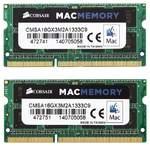 Оперативная память DDR3 16Gb (2x8Gb) 1333 Mhz Corsair Mac Memory So-Dimm PC3-10600 для ноутбуков и моноблоков