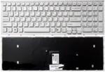Клавиатура для ноутбука Sony VAIO VPC-EB Белая с рамкой