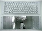 Клавиатура для ноутбука Sony VAIO VPC-EG Белая с рамкой