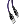 Кабель Lightning Baseus C-shaped Light Intelligent power-off cable 1 метр