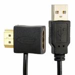 Адаптер переходник HDMI (female) to HDMI (male) с питанием