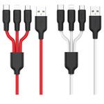 Кабель 3 в 1 HOCO X21 USB type C, Micro USB, Lightning