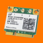 Адаптер WiFi Intel Centrino Ultimate-N 6300 (Mini PCI-E half-size, B/G/N, 450 Mbit/s, 2.4/5 Ghz)