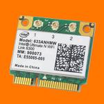Адаптер WiFi Intel Centrino Ultimate-N 6300 (Mini PCI-E half-size, B/G/N, 450 Mbit/s, 2.4/5 Ghz)