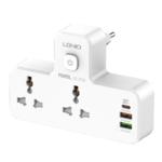 Сетевой разветвитель с зарядкой LDNIO SC2311 (2x220, 2xUSB, USB Type-C) с ночной лампой