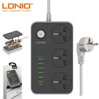 Сетевой удлинитель с USB зарядкой LDNIO SC3604 3x220V, 6xUSB