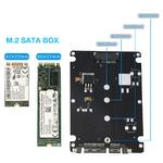 """Переходник (внешний бокс) M.2 SATA to SATA 2.5"""" BOX"""