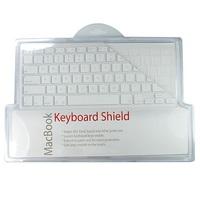 Силиконовая прозрачная накладка на клавиатуру MacBook White