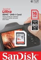 Карта памяти SD 16 Gb SanDisk Ultra UHS-1 (SDSDUNC-016G-GN6IN)