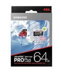 Карта памяти 64Gb Samsung microSDXC PRO Plus + SD adapter (UHS-1, Grade 3)
