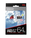 Карта памяти 64Gb Samsung microSDXC PRO Plus + SD adapter (UHS-1, Grade 3)
