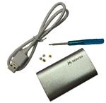 Переходник (внешняя коробка) для mSATA to USB 3.0 silver box slim