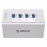 Разветвитель USB 3.0 4 порта ORICO A3H4 Активный Silver