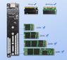 Универсальный внешний бокс M.2 PCI-E NVME, M.2 SATA to USB 3.1 Type-C (Gen 2 10 Gbps) Orico
