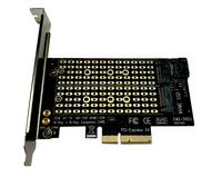 Адаптер PCI-E 4x to M.2 PCI-E NVMe, M.2 SATA Combo